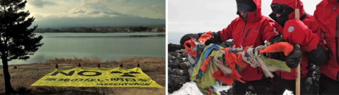 Greenpeace napomina ze świętej góry Fuji