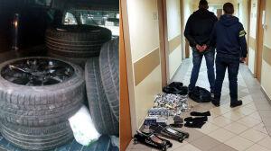 Kradzież kół i włamanie do kiosku. Policja zatrzymała cztery osoby
