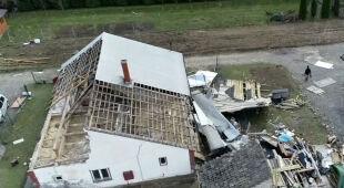 Zniszczenia w Gołkowicach