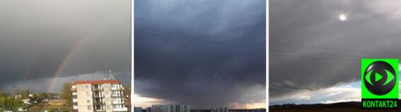 """Ciemne, burzowe chmury """"wdzięcznym"""" obiektem do fotografii"""