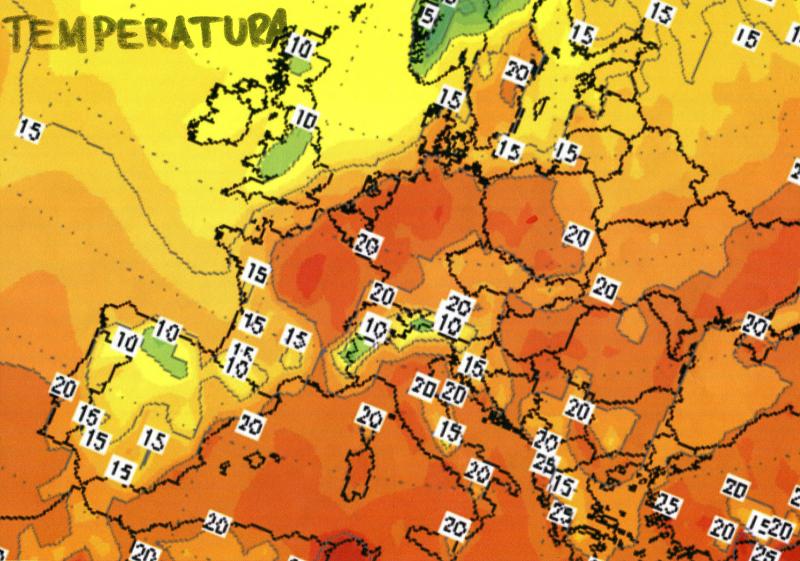 Temperatura w Europie 15 października