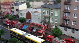 Zawalony budynek w Kaliszu