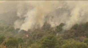 Pożary w pobliżu Mount Wilson