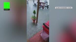 Ulewny deszcz w Małopolsce